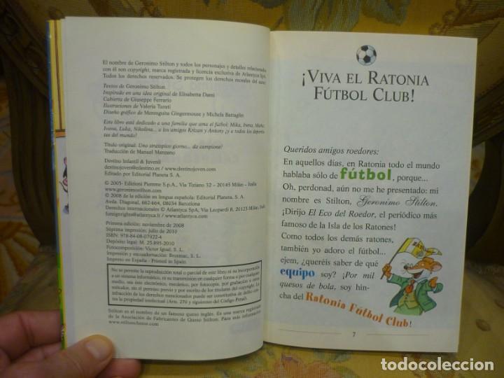 Libros de segunda mano: COLECCIÓN HUMOR Y MISTERIO Nº 35: ¡UN SUPERRATÓNICO DÍA...DE CAMPEONATO!, DE GERONIMO STILTON. - Foto 4 - 194903561
