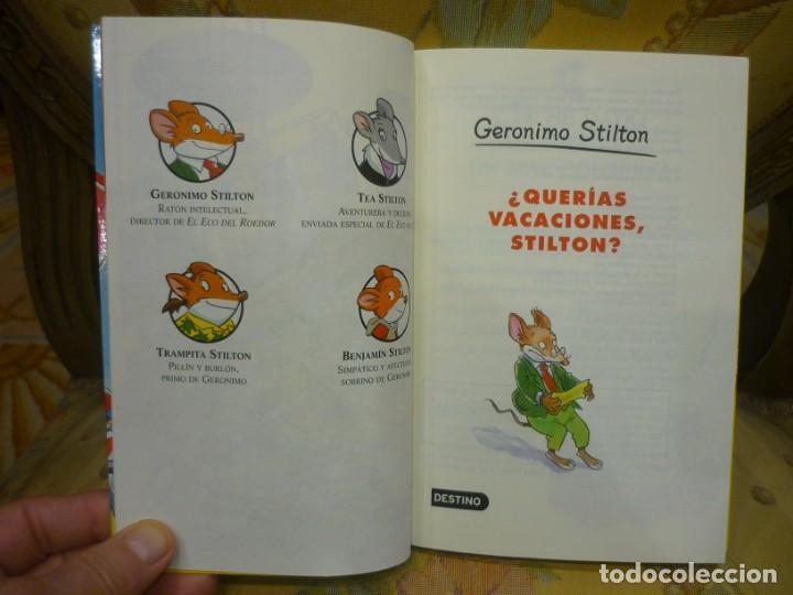 Libros de segunda mano: COLECCIÓN HUMOR Y AVENTURA Nº 19: ¿QUERÍAS VACACIONES, STILTON?, DE GERONIMO STILTON. - Foto 3 - 194903866