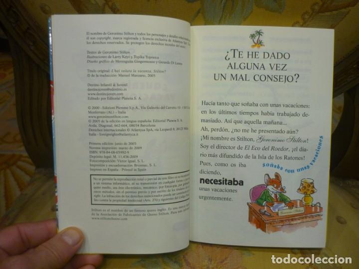 Libros de segunda mano: COLECCIÓN HUMOR Y AVENTURA Nº 19: ¿QUERÍAS VACACIONES, STILTON?, DE GERONIMO STILTON. - Foto 4 - 194903866