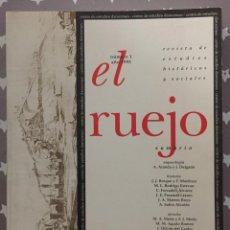 Libros de segunda mano: EL RUEJO REVISTA DE ESTUDIOS HISTORICOS Y SOCIALES, NUMERO 1. Lote 194905602