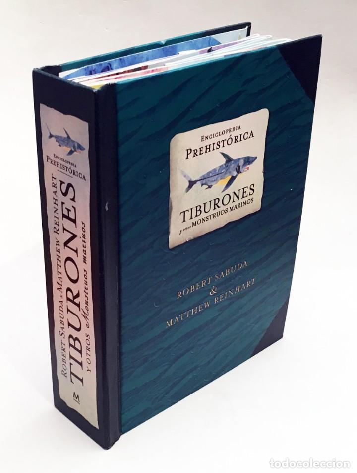 LIBRO DESPLEGABLE POP-UP - ENCICLOPEDIA PREHISTÓRICA, TIBURONES Y OTROS MONSTRUOS MARINOS - MONTENA (Libros de Segunda Mano - Literatura Infantil y Juvenil - Otros)