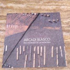 Libros de segunda mano: ARCADI BLASCO - EN L'HORITZO DE LA MEMORIA. Lote 194923901