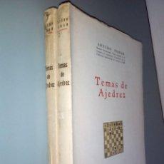 Libros de segunda mano: TEMAS DE AJEDREZ. ARTURO POMAR. 1A. EDICIÓN.. Lote 194946930