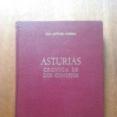 Libros de segunda mano: ASTURIAS CRONICA DE DOS CONCEJOS, JUAN ANTONIO CABEZAS, TINEO, CANGAS DEL NARCEA, 1973. Lote 194947031