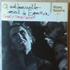 Libros de segunda mano: EL SUBDESARROLLO DE ESPAÑA CAUSAS Y CONSECUENCIAS - VICENÇ NAVARRO - DIARIO PÚBLICO 2009 VER INDICE. Lote 194964448