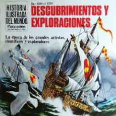 Libros de segunda mano: DESCUBRIMIENTOS Y EXPLORACIONES / ANNE MILLARD. PLESA; SM, 1979. (HISTORIA ILUSTRADA DEL MUNDO; 5). Lote 194970345