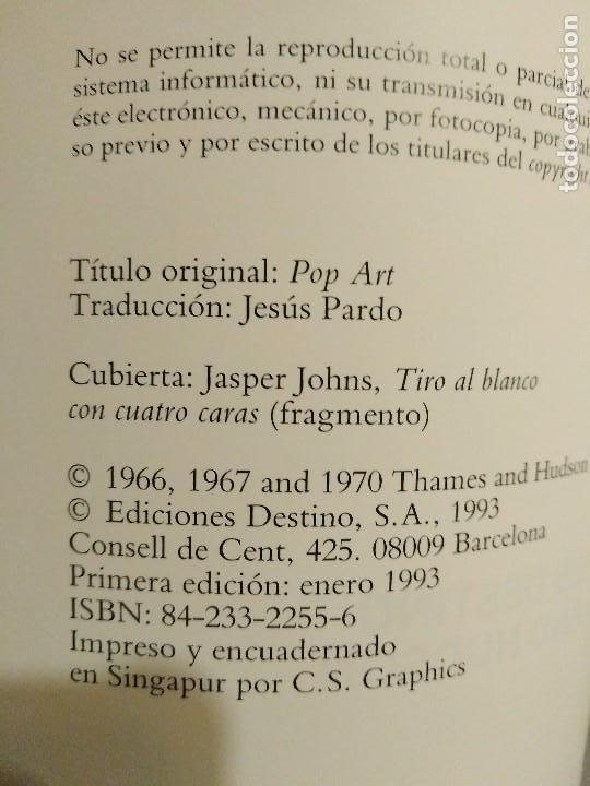 Libros de segunda mano: EL POP ART LUCY R. LIPPARD EDICIONES DESTINO - Foto 3 - 194971358