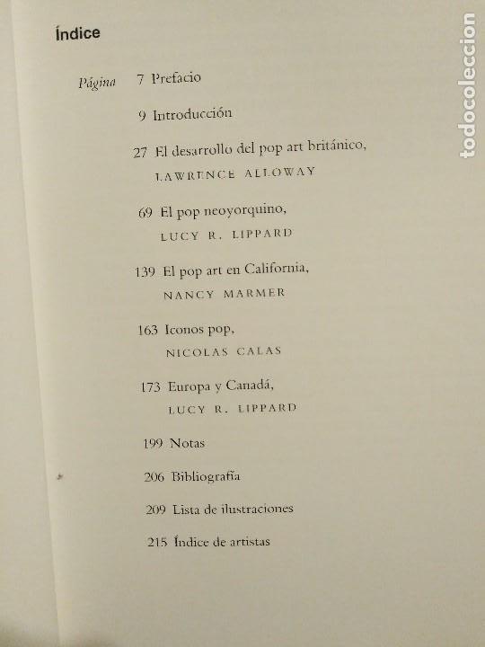 Libros de segunda mano: EL POP ART LUCY R. LIPPARD EDICIONES DESTINO - Foto 4 - 194971358
