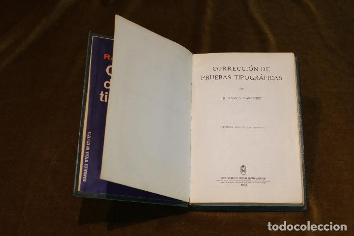 Libros de segunda mano: Corrección de pruebas tipográficas,R. Ramos Martinez,Editorial Hispano Americana,1963. - Foto 2 - 194971992