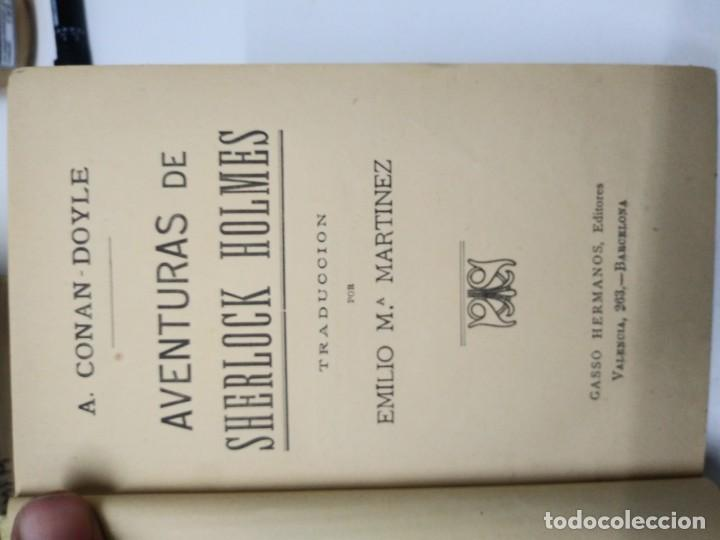Libros de segunda mano: Libro AVENTURAS DE SHERLOK HOLMES biblioteca Casso Conan Doyle - Foto 4 - 194974675