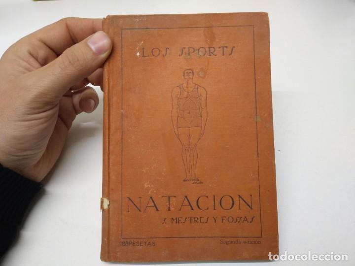 LIBRO LOS SPORTS NATACION SANTIAGO MESTRES Y FOSSAS (Libros de Segunda Mano - Bellas artes, ocio y coleccionismo - Otros)