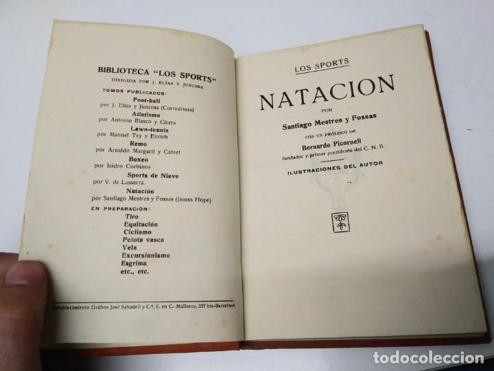 Libros de segunda mano: Libro LOS SPORTS NATACION Santiago Mestres y Fossas - Foto 3 - 194975168