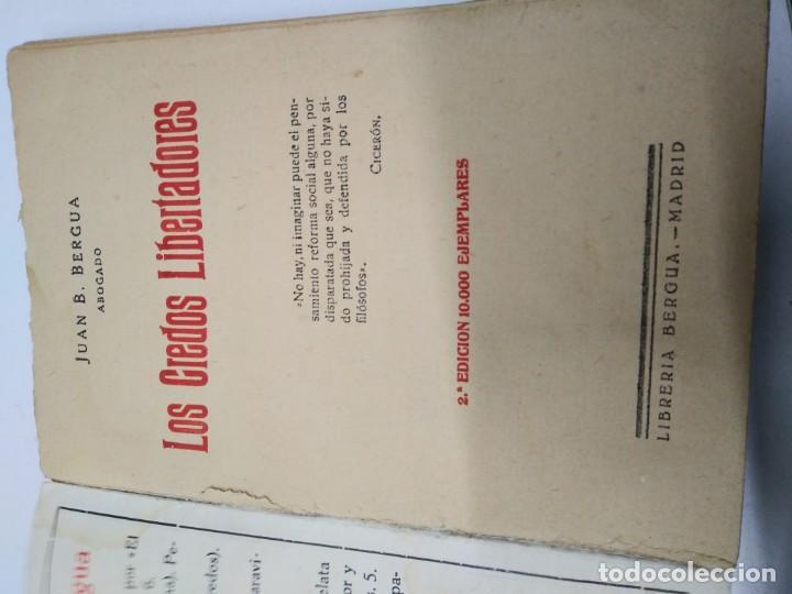 Libros de segunda mano: Libro año 1931 LOS CREDOS LIBERTADORES socialismo colectivismo sindicalismo comunismo espartaquismo - Foto 2 - 194975833
