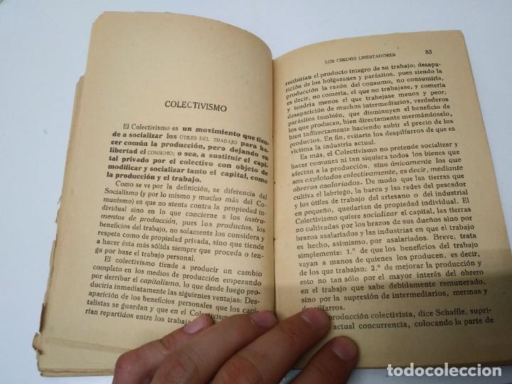 Libros de segunda mano: Libro año 1931 LOS CREDOS LIBERTADORES socialismo colectivismo sindicalismo comunismo espartaquismo - Foto 4 - 194975833