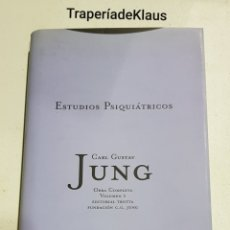 Libros de segunda mano: ESTUDIOS PSIQUIATRICOS - CARL GUSTAV JUNG - OBRAS COMPLETA VOL 1 - TDK123. Lote 194977848