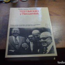 Libros de segunda mano: TESTIMONIOS Y RECUERDOS, PEDRO SAINZ RODRIGUEZ, PLANETA, 1978. Lote 194991147