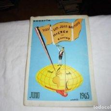 Libros de segunda mano: PORFOLIO FIESTAS DE SAN JUAN BAUTISTA MIERES DEL CAMINO 1965.PUBLICIDAD CHOCOLATES KIKE,BOTAS CHIRUC. Lote 195051458