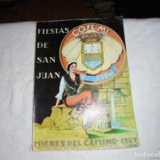Libros de segunda mano: PORFOLIO FIESTAS DE SAN JUAN BAUTISTA MIERES DEL CAMINO 1967.PUBLICIDAD SIDRA MAYADOR.MOTO DUCATI. Lote 195051841