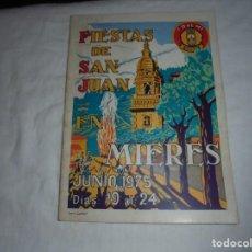 Libros de segunda mano: PORFOLIO FIESTAS DE SAN JUAN BAUTISTA MIERES DEL CAMINO 1975.. Lote 195052227