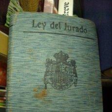 Libros de segunda mano: LEY DEL JURADO, S. CALLEJA-MADRID. L.8136-591. Lote 195074536