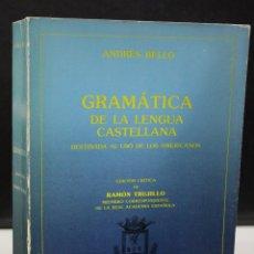 Libros de segunda mano: GRAMÁTICA DE LA LENGUA CASTELLANA. DESTINADA AL USO DE LOS AMERICANOS.. Lote 195085945