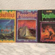 Libros de segunda mano: LOTE LIBROS PESADILLAS R L STINE. Lote 195109986
