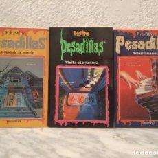 Libros de segunda mano: LOTE LIBROS PESADILLAS R L STINE. Lote 195110362
