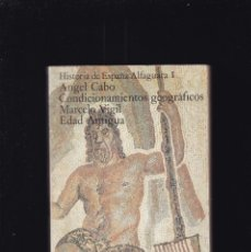 Libros de segunda mano: HISTORIA DE ESPAÑA - EDAD ANTIGUA - ALFAGUARA I / ALIANZA EDITORIAL 1979. Lote 195116005