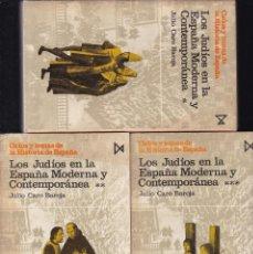 Libros de segunda mano: LOS JUDIOS EN LA ESPAÑA MODERNA Y CONTEMPORANEA - JULIO CARO BAROJA - ISTMO EDITORIAL 1978. Lote 195117307