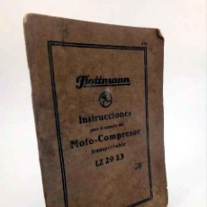 Libros de segunda mano: INSTRUCCIONES PARA EL MANEJO DEL MOTO COMPRESOR TRANSPORTABLE LZ 29 23. FLOTTMANN.. Lote 195123448