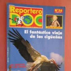 Libros de segunda mano: REPORTERO DOC Nº 36 , MARZO 1997 - EL FANTASTICO VIAJE DE LAS CIGÜEÑAS . Lote 195132921