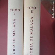 Libros de segunda mano: HISTORIA DE MALAGA EDITADO POR EL DIARIO SUR EN DOS TOMOS PASTA DURA CON ILUSTRACIONES -1958. Lote 195148233