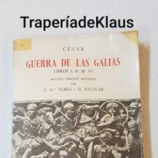 Libros de segunda mano: GUERRA DE LAS GALIAS - CESAR - TDK129. Lote 195149285