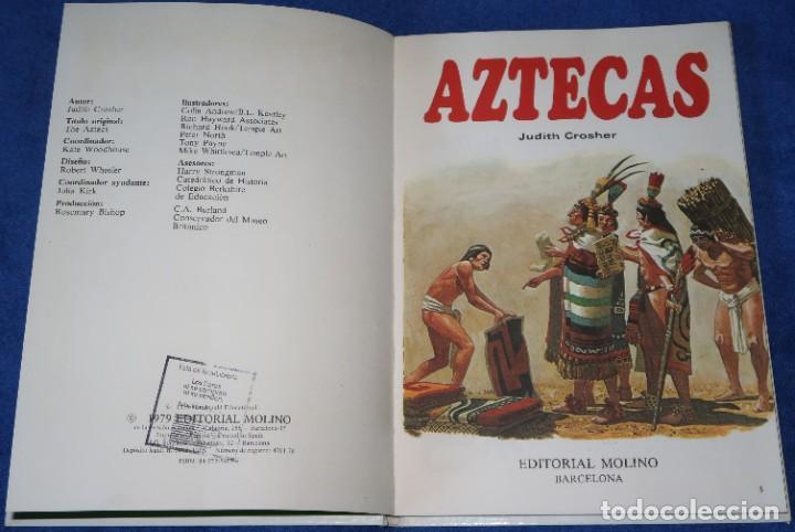Libros de segunda mano: Aztecas - Pueblos del pasado - Editorial Molino (1979) - Foto 2 - 195154530