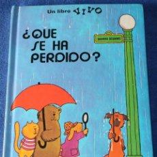 Libros de segunda mano: ¿QUÉ SE HA PERDIDO? - UN LIBRO VIVO - LIBRO POP-UP - MONTENA (1980). Lote 195154737