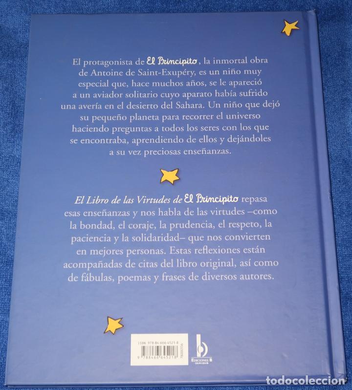 Libros de segunda mano: El libro de las virtudes de El Principito - Ediciones B (2010) - Foto 5 - 195154802