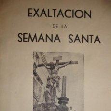 Libros de segunda mano: EXALTACION DE LA SEMANA SANTA SEVILLA 1949.ACADEMIA ESTUDIOS SEVILLANOS Nº1 58 PG FOTOS.8ª. Lote 195161981