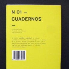 Libros de segunda mano: N 01 CUADERNOS – VV. AA. (JAVIER MARISCAL, FERNANDO AMAT, AMÉRICA SÁNCHEZ...) 2008. Lote 195195556