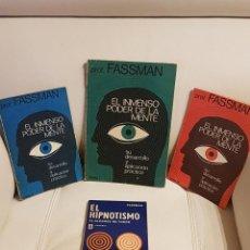 Libros de segunda mano: LOTE DE 4 LIBROS DEL PROFESOR FASSMAN - PODER DE LA MENTE - HIPNOTISMO - DIFÍCIL DE CONSEGUIR. Lote 195224397