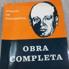 Libros de segunda mano: OBRA COMPLETA DE JOAQUÍN DE ZUAZAGOITIA TOMO I - CARLOS GONZÁLEZ ECHEGARAY (1978). Lote 195236108