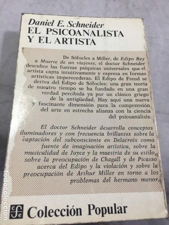 Libros de segunda mano: El psicoanalista y el artista Daniel Schneider, Fondo de Cultura Económica 1974 - Foto 12 - 195236891