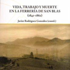 Libros de segunda mano: VIDA, TRABAJO Y MUERTE EN LA FERRERIA DE SAN BLAS 1841-1862. Lote 195239996
