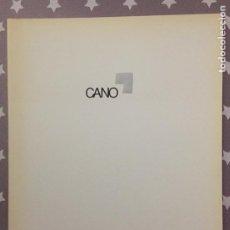 Libros de segunda mano: CANO, CATALOGO. Lote 195244386