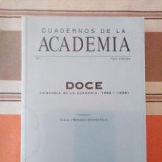 Libros de segunda mano: CUADERNOS DE LA ACADEMIA 4 - DOCE. Lote 195245258