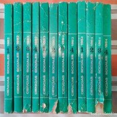 Libros de segunda mano: 12 TOMOS 1982 1983 1984 REVISTA CIENCIAS SOCIALES DE ACADEMIA DE LA URSS COMUNISMO. Lote 195245370