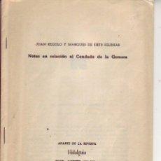 Libros de segunda mano: TENERIFE - NOTAS EN RELACION AL CONDADO DE LA GOMERA -1955. Lote 195249923