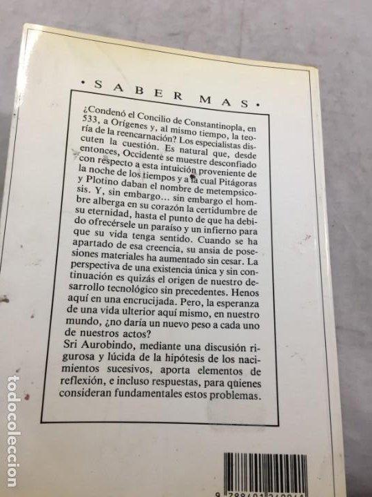 Libros de segunda mano: Renacimiento y Karma. El problema de la reencarnacion Plaza y Janés 1989 Sri Aurobindo - Foto 11 - 195262453