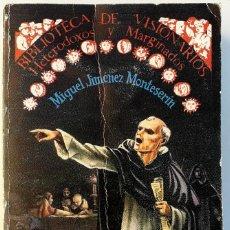 Libros de segunda mano: MIGUEL JIMÉNEZ MONTESERÍN . INTRODUCCIÓN A LA INQUISICIÓN ESPAÑOLA. Lote 195265560