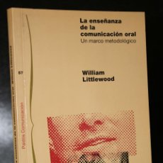 Libros de segunda mano: LA ENSEÑANZA DE LA COMUNICACIÓN ORAL. UN MARCO METODOLÓGICO.. Lote 195268395