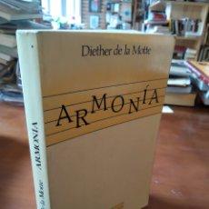 Libros de segunda mano: ARMONÍA. DIETHER DELA MOTTE. Lote 195280186